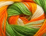 Fiber Content 100% Premium Acrylic, Yellow, White, Orange, Brand ICE, Green, Yarn Thickness 3 Light  DK, Light, Worsted, fnt2-24566