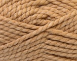 SuperBulky  Fiber Content 55% Acrylic, 45% Wool, Light Brown, Brand ICE, Yarn Thickness 6 SuperBulky  Bulky, Roving, fnt2-24940