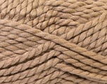 SuperBulky  Fiber Content 55% Acrylic, 45% Wool, Brand ICE, Camel Brown, Yarn Thickness 6 SuperBulky  Bulky, Roving, fnt2-24941