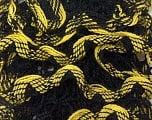 Fiber Content 100% Acrylic, Yellow, Brand ICE, Black, Yarn Thickness 6 SuperBulky  Bulky, Roving, fnt2-25163