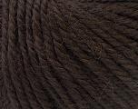 Fiber Content 40% Acrylic, 35% Wool, 25% Alpaca, Brand Ice Yarns, Dark Brown, Yarn Thickness 5 Bulky  Chunky, Craft, Rug, fnt2-25397