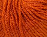 Fiber Content 40% Acrylic, 35% Wool, 25% Alpaca, Orange, Brand Ice Yarns, Yarn Thickness 5 Bulky  Chunky, Craft, Rug, fnt2-25399