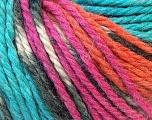 Fiber Content 40% Acrylic, 35% Wool, 25% Alpaca, Turquoise, Orange, Brand Ice Yarns, Fuchsia, Yarn Thickness 5 Bulky  Chunky, Craft, Rug, fnt2-25425
