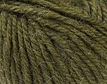 Fiber Content 40% Acrylic, 35% Wool, 25% Alpaca, Brand Ice Yarns, Dark Green, Yarn Thickness 5 Bulky  Chunky, Craft, Rug, fnt2-25451