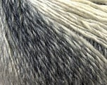 Fiber Content 50% Wool, 50% Acrylic, White, Brand Ice Yarns, Grey Shades, Yarn Thickness 3 Light  DK, Light, Worsted, fnt2-27146