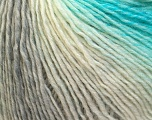Fiber Content 50% Wool, 50% Acrylic, White, Turquoise, Brand Ice Yarns, Grey, Yarn Thickness 3 Light  DK, Light, Worsted, fnt2-27148