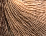 Fiber Content 50% Wool, 50% Acrylic, Brand Ice Yarns, Cream, Camel, Yarn Thickness 3 Light  DK, Light, Worsted, fnt2-27149