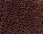 Fiber Content 50% Linen, 50% Viscose, Brand Ice Yarns, Dark Brown, Yarn Thickness 2 Fine  Sport, Baby, fnt2-27254