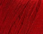 Fiber Content 50% Linen, 50% Viscose, Brand Ice Yarns, Dark Red, Yarn Thickness 2 Fine  Sport, Baby, fnt2-27261