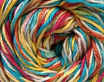 Fiber Content 50% Cotton, 50% Viscose, Yellow, White, Turquoise, Pink, Orange, Brand Ice Yarns, Yarn Thickness 2 Fine  Sport, Baby, fnt2-27317