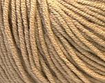 Fiber Content 50% Acrylic, 50% Cotton, Light Brown, Brand Ice Yarns, Yarn Thickness 3 Light  DK, Light, Worsted, fnt2-27354