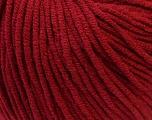 Fiber Content 50% Cotton, 50% Acrylic, Brand ICE, Burgundy, Yarn Thickness 3 Light  DK, Light, Worsted, fnt2-27359