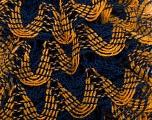 Fiber Content 97% Acrylic, 3% Lurex, Yellow, Navy, Brand Ice Yarns, Gold, Yarn Thickness 6 SuperBulky  Bulky, Roving, fnt2-27376