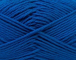 Baby cotton is a 100% premium giza cotton yarn exclusively made as a baby yarn. It is anti-bacterial and machine washable! Fiber Content 100% Giza Cotton, Brand Ice Yarns, Blue, Yarn Thickness 3 Light  DK, Light, Worsted, fnt2-27897