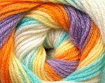 Fiber Content 100% Baby Acrylic, Yellow, White, Orange, Lilac, Light Green, Brand Ice Yarns, Yarn Thickness 2 Fine  Sport, Baby, fnt2-29611
