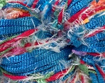 Hand-Tied Cocktail line includes yarns that are hand-tied and made by combining different types of fancy yarns from end-to-end. To make a scarf with this yarn, all you need is to knit 150 stitches per row with 5mm / US 8 . Please note that the weight and yardage information iof this yarn is approximate, and since yarn is hand-tied items made with this yarn will have knots. Fiber Content 100% Polyester, Pink, Brand Ice Yarns, Blue Shades, Yarn Thickness 4 Medium  Worsted, Afghan, Aran, fnt2-29945