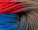 In this yarn a 100% Wool yarn is used. Dyeing process is totally hand made with natural plants and NO chemicals were used. For this reason, please be advised that some white parts may remain. Fiber Content 100% Wool, Red, Brand ICE, Camel, Blue, Yarn Thickness 5 Bulky  Chunky, Craft, Rug, fnt2-30598