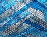 Fiber Content 90% Micro Fiber, 10% Metallic Lurex, White, Brand Ice Yarns, Blue Shades, Yarn Thickness 6 SuperBulky  Bulky, Roving, fnt2-30929