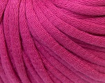 This is a tube-like yarn with soft cotton fleece filled inside. Fiber Content 70% Cotton, 30% Polyester, Brand Ice Yarns, Fuchsia, Yarn Thickness 5 Bulky  Chunky, Craft, Rug, fnt2-32499