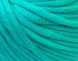 This is a tube-like yarn with soft cotton fleece filled inside. Fiber Content 70% Cotton, 30% Polyester, Mint Green, Brand Ice Yarns, Yarn Thickness 5 Bulky  Chunky, Craft, Rug, fnt2-32503