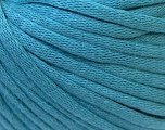 This is a tube-like yarn with soft cotton fleece filled inside. Fiber Content 70% Cotton, 30% Polyester, Light Blue, Brand Ice Yarns, Yarn Thickness 5 Bulky  Chunky, Craft, Rug, fnt2-32507