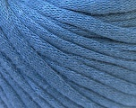 This is a tube-like yarn with soft cotton fleece filled inside. Fiber Content 70% Cotton, 30% Polyester, Indigo Blue, Brand Ice Yarns, Yarn Thickness 5 Bulky  Chunky, Craft, Rug, fnt2-32511