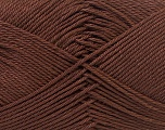 Fiber Content 100% Mercerised Cotton, Brand Ice Yarns, Dark Brown, Yarn Thickness 2 Fine  Sport, Baby, fnt2-32539