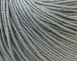 Fiber Content 60% Cotton, 40% Acrylic, Brand Ice Yarns, Grey, Yarn Thickness 2 Fine  Sport, Baby, fnt2-32621