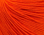 Fiber Content 60% Cotton, 40% Acrylic, Orange, Brand ICE, Yarn Thickness 2 Fine  Sport, Baby, fnt2-32824