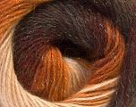 Fiber Content 8% Lurex, 52% Acrylic, 40% Angora, Brand ICE, Brown Shades, Yarn Thickness 2 Fine  Sport, Baby, fnt2-32850