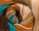 Fiber Content 8% Lurex, 52% Acrylic, 40% Angora, Turquoise, Brand Ice Yarns, Cream, Brown, Yarn Thickness 2 Fine  Sport, Baby, fnt2-32853