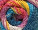 Fiber Content 8% Lurex, 52% Acrylic, 40% Angora, Turquoise Shades, Pink, Lilac, Brand Ice Yarns, Yarn Thickness 2 Fine  Sport, Baby, fnt2-32867