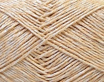 Fiber Content 50% Cotton, 50% Polyester, Brand Ice Yarns, Cream, Yarn Thickness 2 Fine  Sport, Baby, fnt2-33041