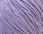 Fiber Content 50% Acrylic, 50% Cotton, Light Lilac, Brand ICE, Yarn Thickness 3 Light  DK, Light, Worsted, fnt2-33061