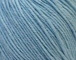 Fiber Content 50% Cotton, 50% Acrylic, Light Blue, Brand ICE, Yarn Thickness 3 Light  DK, Light, Worsted, fnt2-33063