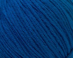 Fiber Content 50% Cotton, 50% Acrylic, Brand ICE, Bright Blue, Yarn Thickness 3 Light  DK, Light, Worsted, fnt2-33064