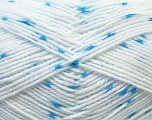 Fiber Content 100% Acrylic, White, Light Blue, Brand Ice Yarns, Yarn Thickness 2 Fine  Sport, Baby, fnt2-33069