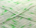 Fiber Content 100% Acrylic, White, Brand Ice Yarns, Green, Yarn Thickness 2 Fine  Sport, Baby, fnt2-33070