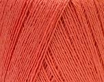 Fiber Content 50% Linen, 50% Viscose, Salmon, Brand ICE, Yarn Thickness 2 Fine  Sport, Baby, fnt2-33231