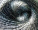 Fiber Content 75% Acrylic, 25% Angora, Brand ICE, Grey Shades, Black, Yarn Thickness 2 Fine  Sport, Baby, fnt2-33232