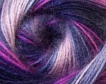 Fiber Content 75% Acrylic, 25% Angora, Purple, Pink, Maroon, Lilac, Brand Ice Yarns, Yarn Thickness 2 Fine  Sport, Baby, fnt2-33242