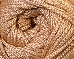 Width is 3 mm Fiber Content 100% Polyester, Yarn Thickness Other, Light Brown, Brand ICE, fnt2-33261