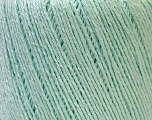 Fiber Content 50% Linen, 50% Viscose, Mint Green, Brand ICE, Yarn Thickness 2 Fine  Sport, Baby, fnt2-33262