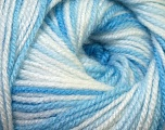 Conţinut de fibre 100% Premium acrilic, White, Brand Ice Yarns, Blue Shades, Yarn Thickness 3 Light  DK, Light, Worsted, fnt2-33391