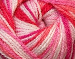 Fiber Content 100% Premium Acrylic, White, Red, Pink Shades, Brand Ice Yarns, Yarn Thickness 3 Light  DK, Light, Worsted, fnt2-33395