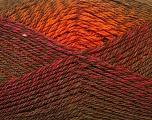 Fiber Content 75% Acrylic, 25% Wool, Brand Ice Yarns, Gold, Dark Khaki, Burgundy, Yarn Thickness 3 Light  DK, Light, Worsted, fnt2-34597