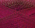 Fiber Content 75% Acrylic, 25% Wool, Red, Purple, Brand Ice Yarns, Green, Fuchsia, Yarn Thickness 3 Light  DK, Light, Worsted, fnt2-34601