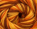 Fiber Content 100% Wool, Yellow, Orange, Brand Ice Yarns, Brown, Yarn Thickness 3 Light  DK, Light, Worsted, fnt2-34729