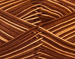 Ne: 8/4. Nm 14/4 Fiber Content 100% Mercerised Cotton, Brand Ice Yarns, Brown Shades, Yarn Thickness 2 Fine  Sport, Baby, fnt2-34752