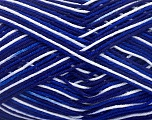 Ne: 8/4. Nm 14/4 Fiber Content 100% Mercerised Cotton, White, Navy, Brand Ice Yarns, Blue, Yarn Thickness 2 Fine  Sport, Baby, fnt2-34756